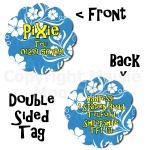 Flower Style Double Sided Pet Tag